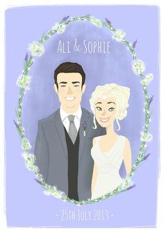Wedding portrait example #illustration #alex_bloomer