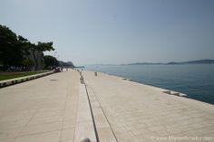 Die schöne Uferpromenade führt direkt an die Meeresorgeln.