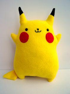 Pokemon Pikachu Fat Cute Design Chubby Stuffed Animal by Plushimi