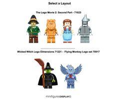 Minifigure Display Case Frame Lego Movie 2 Wizard of Oz 71023 minifigs figures