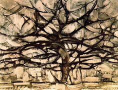 "Pieter Cornelis ""Piet"" Mondriaan, after 1906 Mondrian (March 1872 – February Gray Tree Oil on canvas, 1912 × cm Gemeentemuseum Den Haag, The Hague Piet Mondrian, Web Gallery Of Art, Gray Tree, Galerie D'art En Ligne, Dutch Painters, Wassily Kandinsky, Tree Art, Art History, Les Oeuvres"