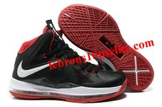 new product 7e717 35f4a Nike Lebron X Black Varsity Red Red Medal for sale