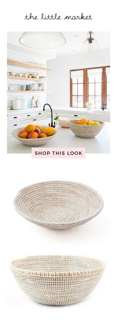 We love the way the way Lauren Conrad uses these woven bowls to display fruit in her kitchen.