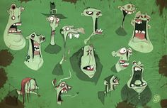 """bronze-wool: """" ParaNorman concept art by Brett Bean. Cute Zombie, Zombie Art, Character Concept, Concept Art, Character Sketches, Illustrations, Illustration Art, Scary Characters, Doodle"""