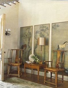 Madeline Stuart   Entrances/foyers   Art Panels, Chinoiserie Art Panels,  Oriental Art Panels, Lovely And Inviting Asian Foyer Design!