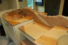 concrete countertops incorporating stone | them of a concrete staining pattern they liked from another concrete ...