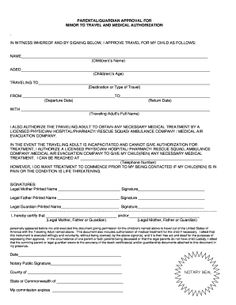 Passport Application Parental Consent Form Fill Online Printable