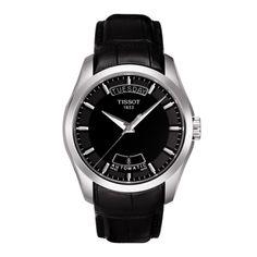 Tissot Couturier Men's Black Automatic Leather Watch