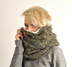 Snock® womens chunky cowl scarf in over-sized by jaffic on Etsy