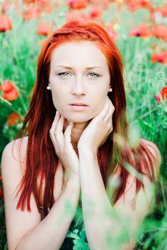 #redpoppies #portrait #redhair #photography