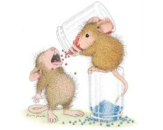 """Balanced Diet"" from House-Mouse Designs®. This image was recently purchased on a rubber stamp. Click on the image to see it on a bunch of other really ""Mice"" products."