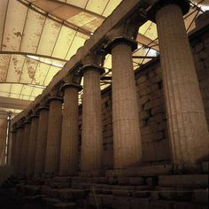 The Temple of Apollo Epicurius was built between 420-400BC by Iktinos, one of the two architects of the Parthenon of Athens. The Temple of Apollo is located 80 km away from Olympia and 7km away from Figalia, on the rocky area of Bassai.