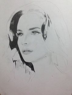 Lana Del Rey Pencil Art, Pencil Drawings, Art Drawings, Clueless 1995, Black And White Sketches, Ldr, One Design, Constellations, All Art