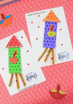 Diwali Ideas – Cards, Crafts, Decor, DIY and Party Ideas Diwali Fireworks Card for kids to make Diwali Activities, Creative Activities For Kids, Easy Crafts For Kids, Craft Activities, Art For Kids, Diwali Greeting Cards, Diwali Greetings, Cracker, Diwali Card Making