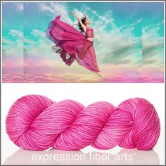 Expression Fiber Arts, Inc. - YOUR TIME TO FLY SUPERWASH DEWY DK YARN - bold, unapologetic pink. It's YOUR time to fly. Spread your wings wide and proudly, get out of your comfort zone and ... JUMP, $23.00 (http://www.expressionfiberarts.com/products/your-time-to-fly-superwash-dewy-dk.html)