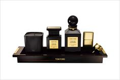 Tom Ford tuscan leather travel kit - expensive smell....