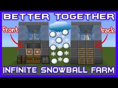 Infinite Snowball Farm Tutorial [Minecraft Bedrock Edition][MCPE] Today i'm going to show you how to build a super easy infinite snowball and snow block farm.
