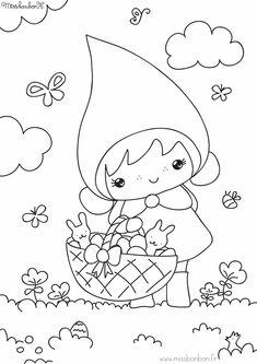 Coloriage de Pâques - Miss Bonbon