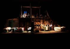 The Diary of Anne Frank. Texas Tech. Scenic design by Ross Fleming. 2003