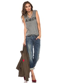 LOVERS + FRIENDS for REVOLVE Amor Muscle Tank in Heather Grey