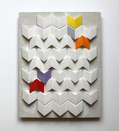 slip-cast earthenware tiles by Kristina Gerig