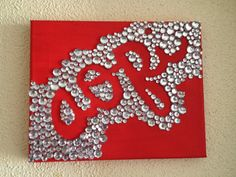 Alpha Omicron Pi Canvas Painting by UniversityColors on Etsy
