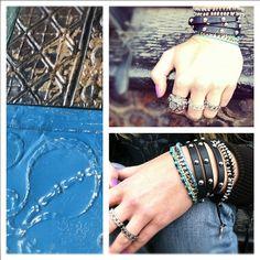 black + blue wrap style