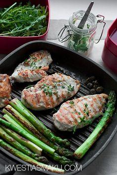 Sałatka z kurczakiem Food Art, Green Beans, Seafood, Grilling, Fish, Meat, Chicken, Vegetables, Sea Food