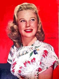 """June Allyson on the cover of """"Screenland"""" magazine, USA, Old Film Stars, Movie Stars, Blonde Celebrities, Celebs, Vintage Hollywood, Classic Hollywood, Hollywood Actresses, Actors & Actresses, June Allyson"""