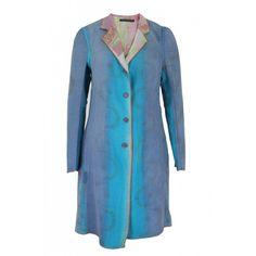 Bl^nk London Vintage Kantha Blue Coat ($265) ❤ liked on Polyvore