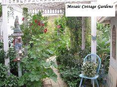 easy pergola and beautiful garden