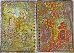 "scraps of reflection: ""Doors"" Art Journal Pages **Xyron & Faber-Castell ..."