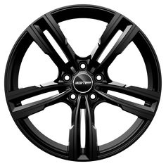 Reven Glossy Black Professional Alloy wheel / Cerchio in lega professionale Reven Nero lucido Front Ford Fusion, Alloy Wheel, Traditional Design, Jeep, Wheels, Car, Black, Automobile, Black People