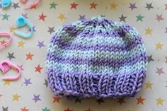 Perfect preemie baby hat on Knit by Bit - get stash under control and make something sweet**
