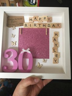 Personalised Birthday Box Frame Gift Happy 30th Present