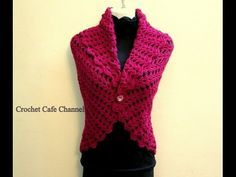 How to crochet vest bolero shrug, Chaleco, for beginners para principiantes free tutorial - YouTube
