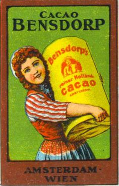 ♥Bensdorp cacao Chocolate Making, Chocolate Art, How To Make Chocolate, Vintage Ads Food, Tins, Travel Posters, Vintage Posters, Holland, Cocoa