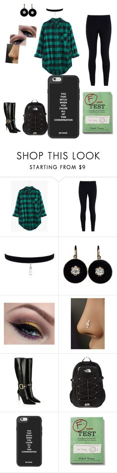 """""""2nd DAY of A FREAKN school..."""" by amtulsweetys ❤ liked on Polyvore featuring Madewell, NIKE, Gucci, The North Face and Chronicle Books"""