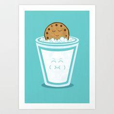 Hot Tub Cookie Art Print by Teo Zirinis - $16.00