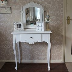Mae Range - White Dressing Table with Mirror