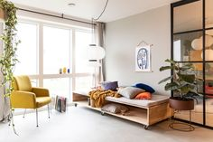 Flexible daybed with wheels – New builders season 5 – SILVAN HomeMade Bedroom Inspirations, Diy Sofa, Furniture, Living Room Sofa, Bedroom Decor, Bedroom Diy, Modern Daybed, Diy Daybed, Daybed Sofa