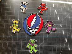 Grateful Dead patch. Dead Head. Jerry Garcia. The Grateful | Etsy