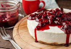 The most delicious no-bake cheesecake recipe ever made tillie Baked Cheesecake Recipe, No Bake Cheesecake, Cherry Recipes, Greek Recipes, Food Cakes, No Bake Desserts, Dessert Recipes, Food Categories, Chefs