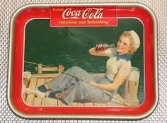dated vintage Coke Tray by AntiquatedHeirlooms on Etsy Vintage Coca Cola, Coca Cola Ad, Vintage Tins, Coca Cola Kitchen, Diet Pepsi, Vintage Sailor, Soda Fountain, Dr Pepper