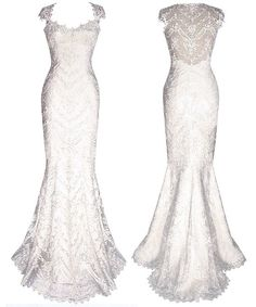 Claire Pettibone style Chantilly - Claire Pettibone Wedding Dresses - Claire Pettibone. WOW