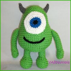 Handmade Crocheted Monsters Inc. Mike Wazowski by YARNutopia, $20.00
