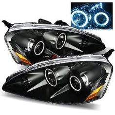 05-07 Acura RSX Twin CCFL Halo LED Projector Headlights - JDM Black