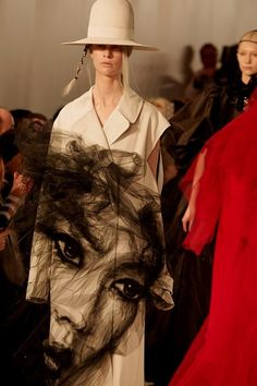 John Galliano's Spring 2017 collection for Maison Margiela Artisanal explored the multifarious layers that we apply to ourselves in the digital age: