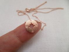 Hey, I found this really awesome Etsy listing at https://www.etsy.com/listing/196203532/tiny-rose-gold-circle-disk-necklace