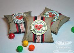 Square Pillow Box Die-namics, Lollipop Additions - Love - Jenny Peterson